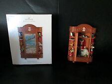 Rare HTF Hallmark 2010 Santa's Armoire In Store Limited Brown Event Ornament