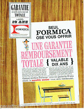 PUBLICITE ADVERTISING 115  1965  Formica  revetement  meubles table & chaise