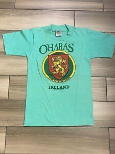 Vtg 80s O'Hara's Ireland Coat Of Arms Irish Beer Ales T Shirt XS Small NWOT