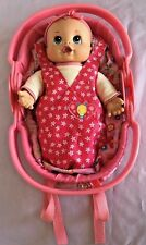 """Baby Alive 13"""" Go Bye Bye Doll w Sound & 5-in-1 Carrier BackPack Car Seat CS"""