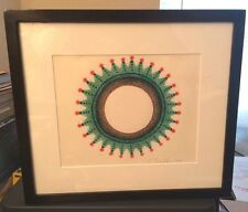 """CHRISTMAS WREATH"" BY ED PASCHKE 2001 ORIGINAL ART HAND DRAWN IN COLORED PENCIL"