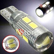 2 LED T10 HID 10 SMD 5630 Lampade Canbus BIANCO Luci Posizione Lente Reticolare