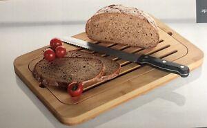 Breadboard Cutting Bread with Crumb Tray Ernesto Bamboo 37.6 x24.3cm Rectangle