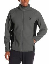 Spyder Men's Foremost Full-Zip Heavy Weight Core Jacket, Size XXL, PolarBlack