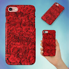 RED FLOWERS ROSES ROSE HARD BACK CASE FOR APPLE IPHONE PHONE