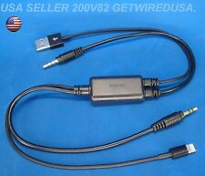 JVC AUX CABLE i PAD AIR iPHONE 5 5s 5c 6 iPOD 3.5MM USB 8-PIN KS U49 U39 U29 U19