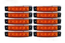10 x 12V LED AMBER SIDE MARKER CLEARANCE LIGHTS CARAVAN PICKUP CAMPER MOTORHOME