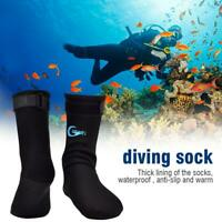 1 Pair 3mm Neoprene Diving Socks Dive Boots Swimming Diving Shoes Surfing Boots