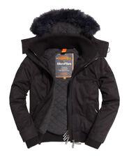 Superdry Microfibre Fur Windbomber chaquetas Xs-black / Black