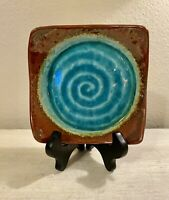 Vintage Studio Art Pottery Ceramic Trinket Dish Tray