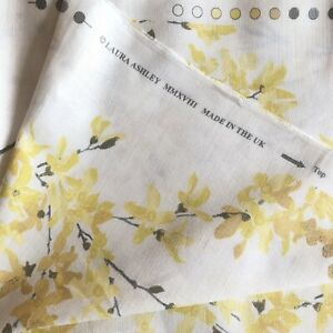 LAURA ASHLEY Forsythia Sunshine Fabric Material 137 x 1000cm ~10 Metres RRP £360