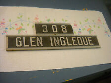 post office box house name plate address 308 glen ingledue doubled sided