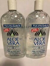Fruit of the Earth Neuf Aloe Vera 100% Pure Gel 710ml 680g (Paquet De 2)
