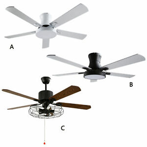 """42""""52"""" Industrial Ceiling Fan LED Light Remote Control 3 Color and Speed Change"""