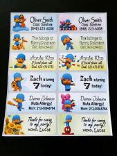 40 POCOYO Custom Waterproof Name Labels-SCHOOL,DAYCARE(Buy 5 get 1 FREE)