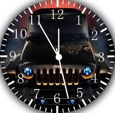 "New Jeep Wrangler wall Clock 10"" will be nice Gift and Room wall Decor E179"