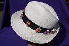 Panama Hat ECUADOR HATS made in Ecuador crushable 57cm doll hatband sz 7 1/8