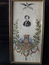 prince imperial souvenir exposition universelle paris 1867 mouchoir soie brodée