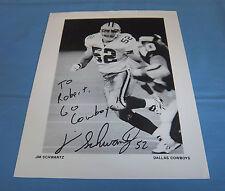 Dallas Cowboys Jim Schwantz Signed Autographed 8.5x11 Photo Purdue