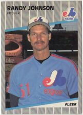 1989 Fleer #381 Randy Johnson RC with Marlboro Ad On Scoreboard! Readable! Rare!