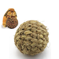 10cm Pet Grass Ball with Bell Chew Play Toy for Rabbit Hamster Guinea Pig Rat