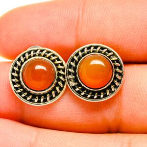 """Carnelian 925 Sterling Silver Earrings 1/2"""" Ana Co Jewelry E418526"""