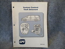 CPT Venture Content Theft Deterrent Manual Guide 59407.05-B Reference Book W468
