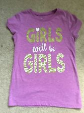Top shirt 10 12 TCP Summer Fall Sparkly L Lavender Gold Bts School Shortsleeve