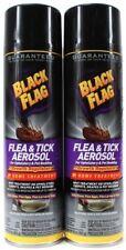2 Black Flag Flea & Tick Aerosol Home Treatment Upholstery & Pet Bedding 16oz
