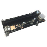 Q38 NEU USB 3.0 PCI-E Express 1x zu 16x Extender Riser Kabel Karte Grafik + SATA