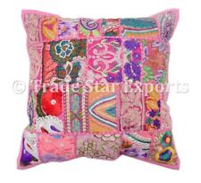 "Square Patchwork Cushion Cover 16"" Decorative Throw Pillows Case Christmas Gift"