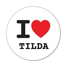 I LOVE tilda-autocollant sticker décalque - 6cm