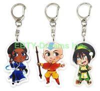 Set of 3 Avatar The Last Airbender Anime Acrylic Keychain Aang Katara Toph