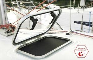 Boat Caravan Hatch Window 506mm x 506mm with Magnetic Mosquito Net