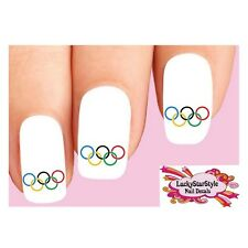 Waterslide Nail Decals Set of 20 - Olympic Rings