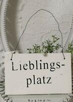 Bild Türschild Lieblingsplatz ...Deko Schild Holz Shabby Vintage Landhaus 18cm