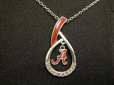 Alabama Crimson Tide Enameled Teardrop Pendant Necklace
