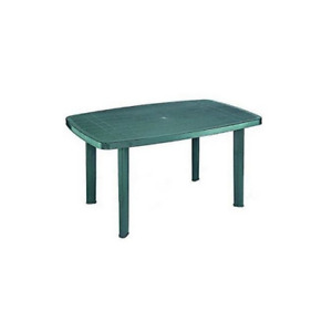 Faro modular oval table in green polypropylene for outdoor use 137x85x72 cm