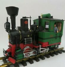 LGB G # 20212 Dampflokomotive 2 schwarz grün Licht Rauch Sound Figuren