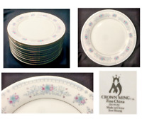 Vintage CROWN MING Fine China Dinnerware Dinner Plates HARMONY Jian Shiang 11-PC