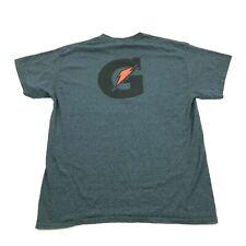 GATORADE Logo Shirt Size L Large Adult Sports Drank Polyester Cotton Blend Tee
