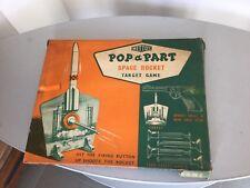 RARE ORIGINAL 1950's# METTOY SPACE ROCKET  TARGET GAME POP A PART#NIB FULL