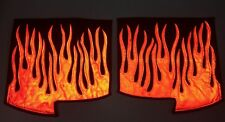 *Reflective* Peterbilt 379 Quilted Flame Fender Guards- White Or Orange Flames!