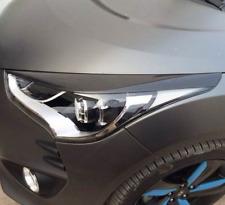 For Hyundai Veloster Sport Real Carbon Fiber Headlight Eye Lid Cover 2011-2017