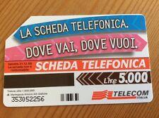 Collectable Phone Card Italy Dove trovi questo simbolo Telecom Italia Scheda