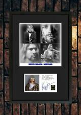 More details for (#244)  kurt cobain nirvana signed a4 photo//framed (pp) great gift @@@@@@@@@@@@