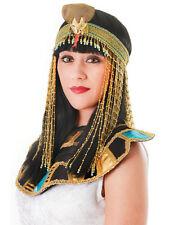 Oro Perline ASP Copricapo CLEOPATRA REGINA DEL NILO EGIZIANA Romana Costume