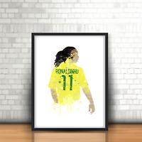 Ronaldinho - Brazil Inspired Football Art Print Barcelona Brazilian Legend