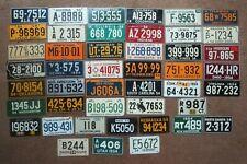 Vintage 1954 / 1955 Wheaties Miniature Bike State Metal License Plate sign Tag