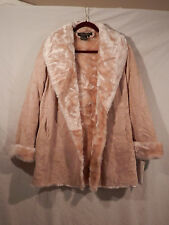 Terry Lewis Genuine Leather Suede Faux Fur jacket size small NWT